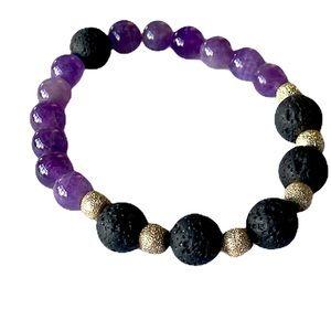 Aromatherapy Amethyst Crystal Bracelet